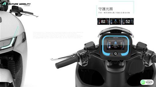 ▲宏佳騰全新智慧電車搭載新一代智慧儀表。(圖/宏佳騰提供)