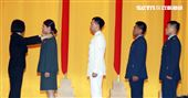 總統蔡英文主持108年三軍六校院畢業典禮,頒發畢業生畢業證書、授階、優秀同學。(記者邱榮吉/鳳山拍攝)