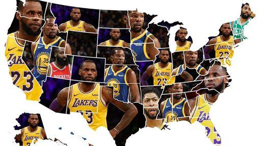 美媒《Sportsinsider》統計各州最討厭球星。(圖/翻攝自推特)