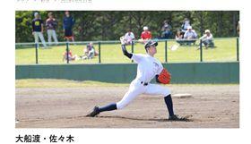 ▲日本大船渡高校選手佐佐木朗希未來性受期待。(圖/截自日本媒體)