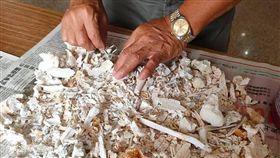 阿姨婆婆的骨灰罈有10幾根鐵釘。(圖/翻攝自靈異公社)