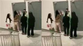 14歲女逛百貨…好奇多看一眼 遭4女狠拖至樓梯間圍毆(圖/微博)