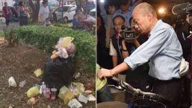 韓國瑜,新竹造勢垃圾,組合圖