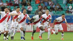 ▲秘魯球員慶祝晉級美州盃4強。(圖/取自秘魯足協IG)
