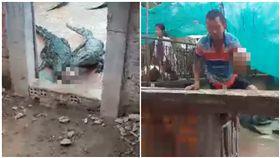 2歲女兒掉進鱷魚池!救出時只剩頭骨(圖/翻攝自臉書)