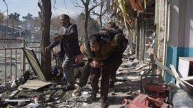 阿富汗,爆炸,首都,喀布爾,汽車,炸彈,恐怖組織,槍戰, 圖/翻攝自推特