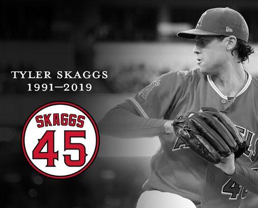 ▲天使發布Tyler Skaggs的死訊。(圖/取自天使隊推特)