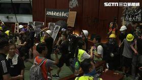 反送中/20190701晚上 示威民眾闖入立法會