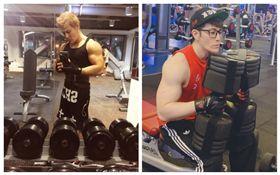 許紹洋近日在微博PO出健身照片。(圖/翻攝自微博)