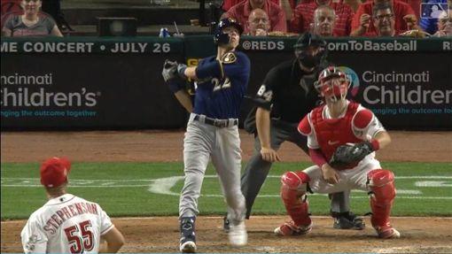 ▲葉立奇(Christian Yelich)明星賽前敲出30轟。(圖/翻攝自MLB官網)