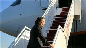 總統蔡英文出訪。總統府提供