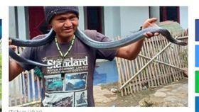 愛蛇男幫17公斤巨蟒洗澡 慘被活活勒死!妻嘆:這是宿命 圖/翻攝自tribunnews