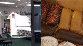 甜甜圈,入獄,西雅圖,警察局。(圖/翻攝自King County Sheriff's Office臉書)