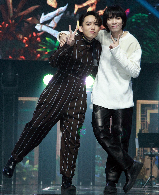 金曲歌王蕭敬騰和林宥嘉擔任「聲林之王」2首席導師。(記者邱榮吉/攝影)
