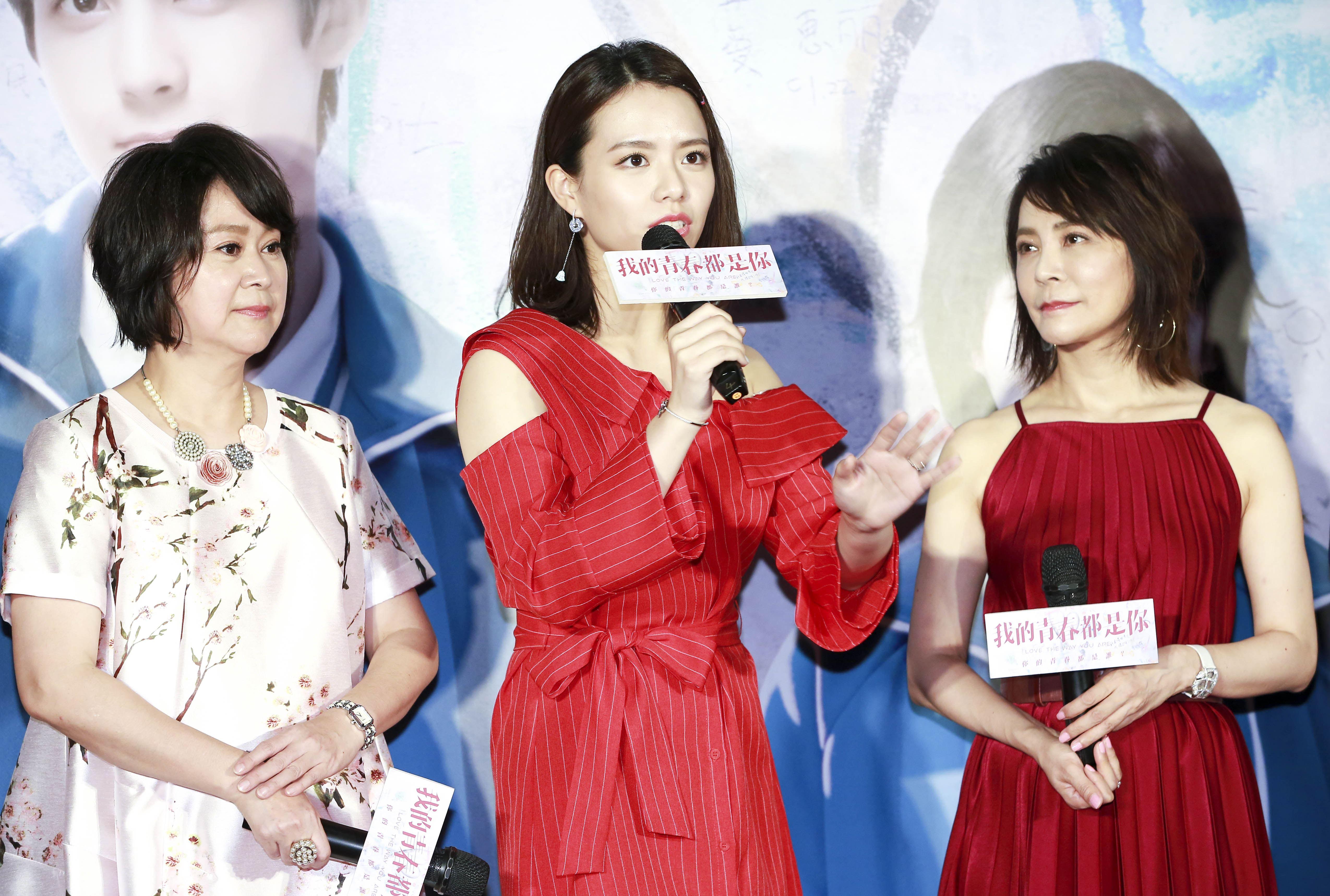 《我的青春都是你》電影首映會,主演王月、宋芸樺,導演柴智屏。(記者林士傑/攝影)