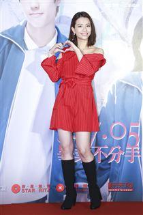 《我的青春都是你》電影首映會,主演宋芸樺。(記者林士傑/攝影)
