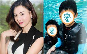香港女星張柏芝跟大兒子Lucas、二兒子Quintus暑假出遊。海豚/海洋公園。IG