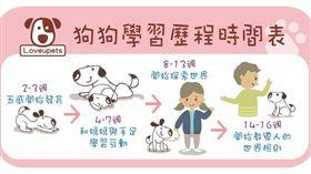 ▲狗狗學習歷程時間表(圖/愛你寵物網lovepets)