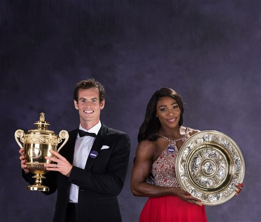 2019年溫布頓網球錦標賽又多一大看點,美國選手小威廉絲(右)答應與英國選手莫瑞組隊打混雙。(圖/翻攝自Wimbledon臉書)