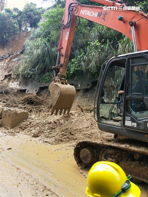 新北市,汐止,積水,坍方,豪雨
