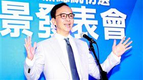 國民黨總統初選國政願景發表會候選人朱立倫。(記者林士傑/攝影)