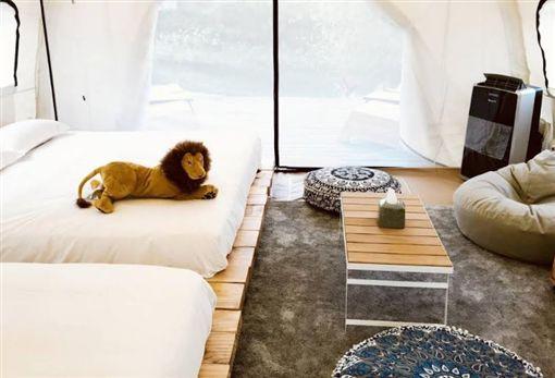 ▲豪華露營很簡單!這飯店內有五星帳篷。(圖/花蓮理想大地渡假飯店提供)