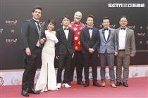 第30屆金曲獎星光大道,謝豐澤、左興、Michele Paciulli。(記者邱榮吉、林士傑/攝影)