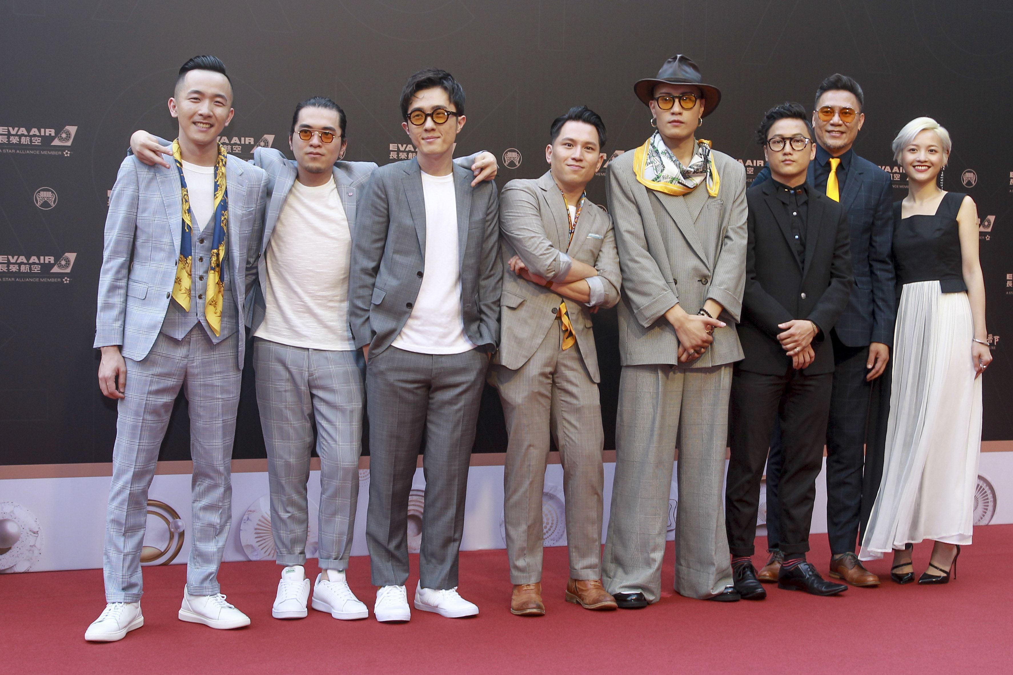 第30屆金曲獎星光大道,余佳倫、黃宣、Yellow。(記者邱榮吉、林士傑/攝影)