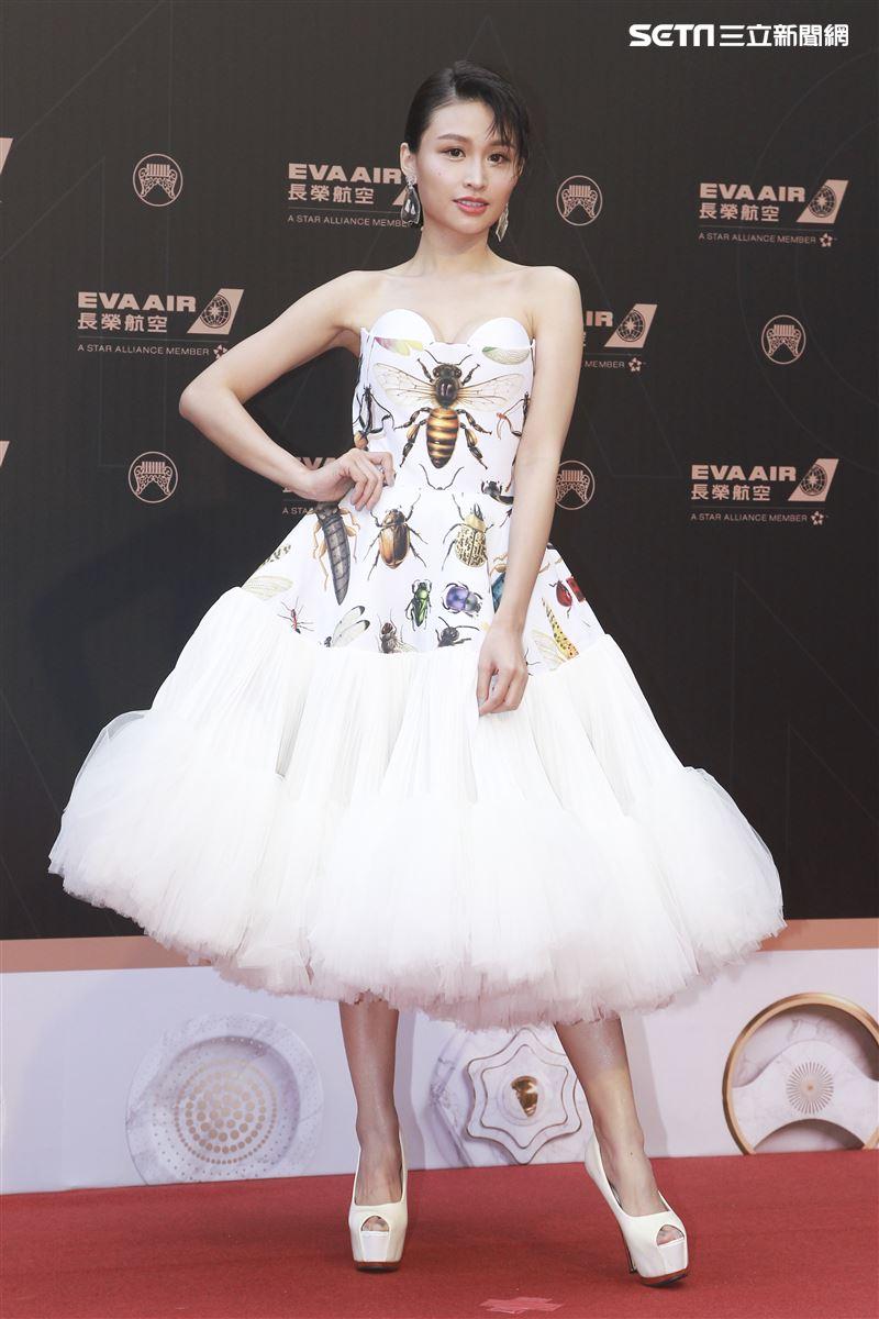 第30屆金曲獎星光大道,黃若熙。(記者邱榮吉、林士傑/攝影)