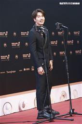 第30屆金曲獎星光大道,言承旭。(記者邱榮吉、林士傑/攝影)