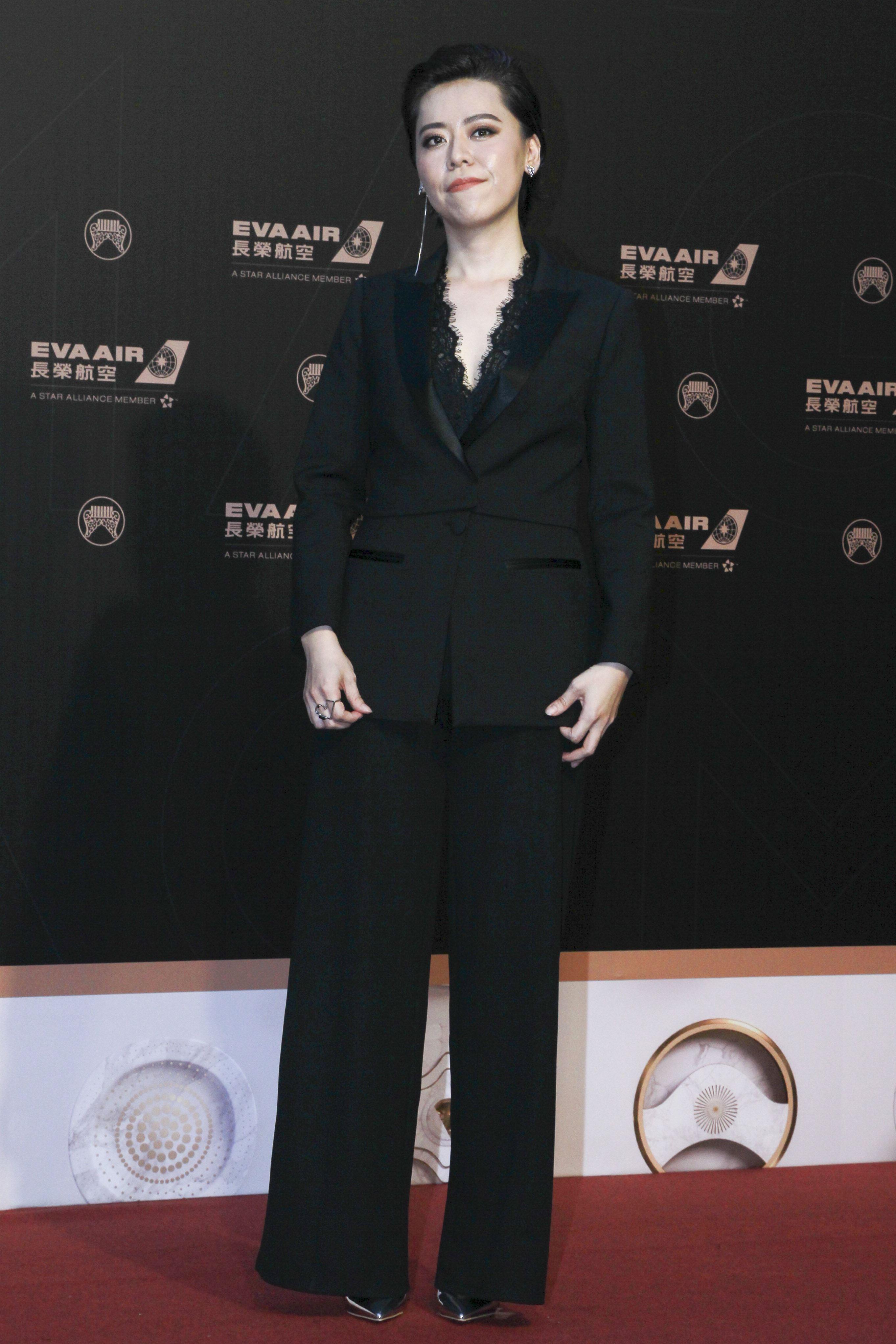 第30屆金曲獎星光大道,江惠儀。(記者邱榮吉、林士傑/攝影)