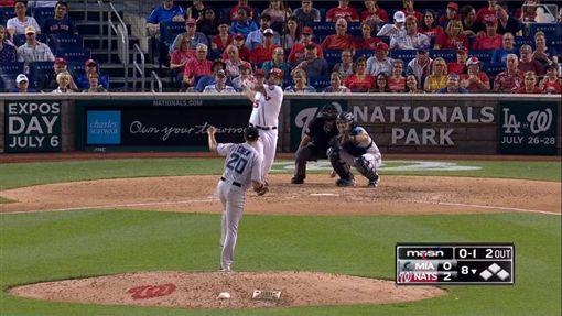 ▲陳偉殷4天內連挨亞當斯(Matt Adams)2轟。(圖/翻攝自MLB官網)