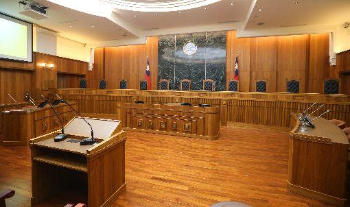 最高法院大法庭(1)大法庭新制正式上路,最高法院4日舉行大法庭揭牌儀式。圖為最高法院大法庭。中央社記者謝佳璋攝  108年7月4日