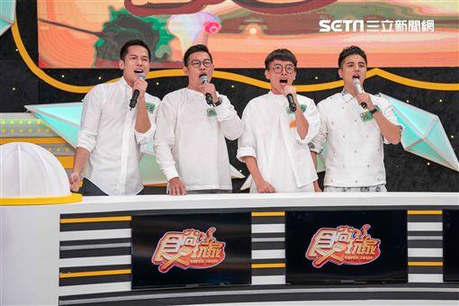 李宣榕、馬力歐、梁瀚名、楊雅筑、大元、游小白日前上TVBS《食尚玩家-歡樂有夠讚》 圖/TVBS提供
