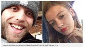 英國,25歲男子尼考森(Carer Stephen Nicholson)刺死13歲懷孕女友露西(Lucy McHugh)(圖/翻攝自METRO)
