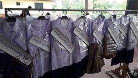 泰國,葬禮,告別式,制服,花圈(圖/翻攝自Kongjeth Promnumpol臉書)