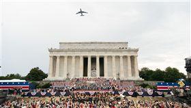 美國,國慶,閱兵,軍力,波音747,林肯紀念堂(圖/翻攝自Dan Scavino Jr.推特)