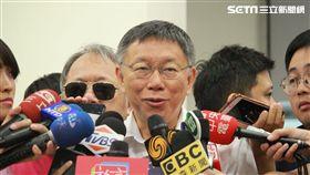 柯文哲自上海返台 圖/黃宣尹攝影