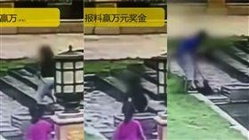 (圖/翻攝自梨視頻)中國,山西,噴水池,觸電