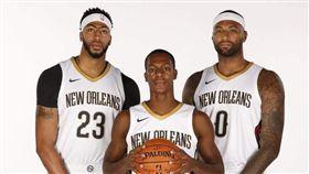 Davis、Cousins與Rondo曾是鵜鶘隊友。(圖/翻攝自推特)