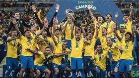 ▲巴西勇奪美洲盃冠軍。(圖/取自巴西足協推特)