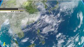 衛星雲圖。翻攝氣象達人彭啟明