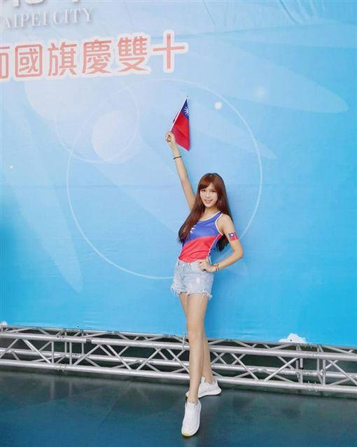 穿國旗裝工作…女模照片被盜用 怒了:被當成韓粉更丟臉圖翻攝自當事人臉書