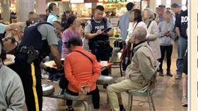 走路被撞…中國大媽怒拿熱湯燙路人!夫婦遭警方反手上銬(圖/翻攝自《中國報》)
