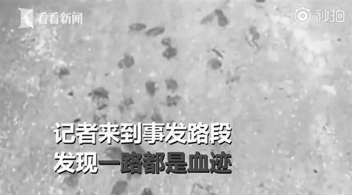 中國大陸,2名男子騎機車拖行小黑狗,虐狗(圖/翻攝自看看新聞)