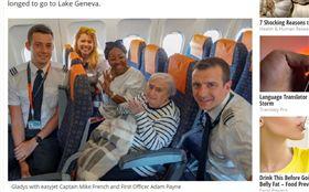 英國,95歲,飛機,倫敦,瑞士,日內瓦湖。(圖/翻攝自Milton Keynes Citizen)