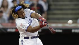 ▲小葛雷諾(Vladimir Guerrero Jr.)全壘打大賽首輪29轟破紀錄。(圖/美聯社/達志影像)
