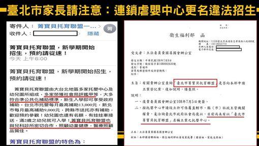 悶死11月大男嬰 「我們的」托嬰中心竟偷改名招生圖/翻攝自黃國昌臉書