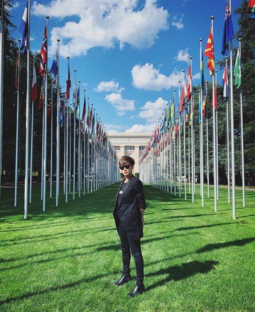香港,歌手,何韻詩,聯合國,反送中(圖/翻攝自HOCC臉書)