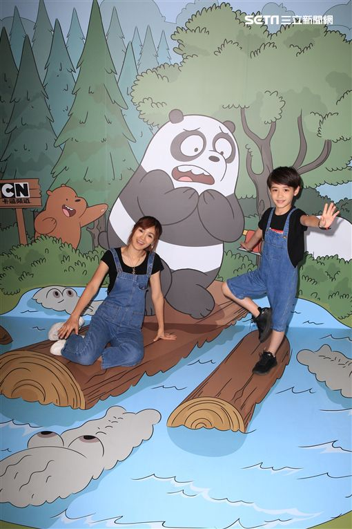 熊熊遇見你,卡通頻道,卡通明星,台北市兒童新樂園,松山文創園區,拍照,伊萊媽,伊萊